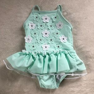 Baby Girl Floral/ Flowers Swimsuit